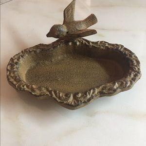 Beautiful bird jewelry holder, soap dish......